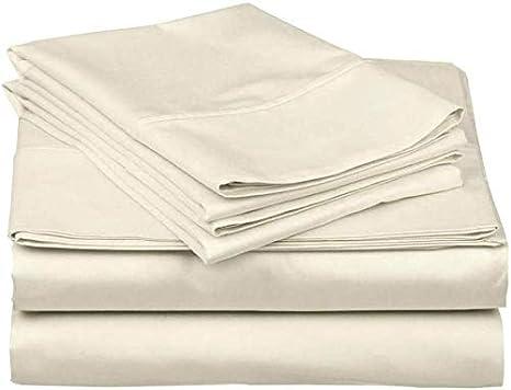 """4PCs Linens Sheet Set Deep Pocket 15/"""" Queen//King Size 600 TC All Color Sheets"""
