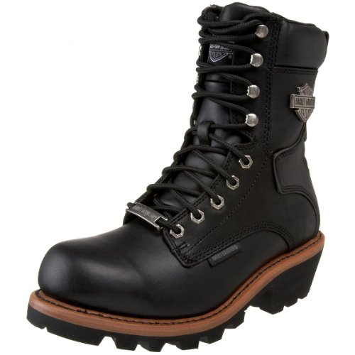 Harley-Davidson Men's Tyson Logger Boot,Black,13 M US