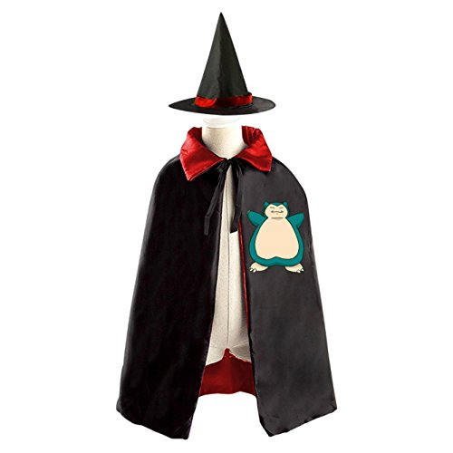 Cute Snorlax Kids Halloween Party Costume Cloak Wizard Witch Cape With (Cute Snorlax Costume)