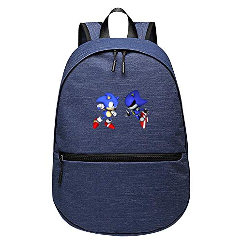 MIMION Dark Sonic vs Metal Sonic Primary and Secondary Fashion Large Capacity School Bag (Metal Sonic 10 Inch Figure)