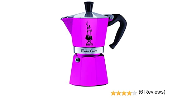 Bialetti Moka Express Color 0.3L Rosa - cafeteras italianas (Aluminio, Rosa, Moka Color): Amazon.es: Hogar