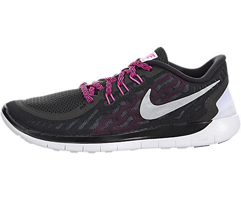 Boy's Nike 'Free 5.0' Running Shoe Black/ Anthracite/ White