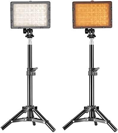 Xinwoer Video Fill Light 160 LED Video Light 5600K CRI85 Dimmable Digital Camera Fill Lamp for Nikon,Support Brightness Stepless Adjustment