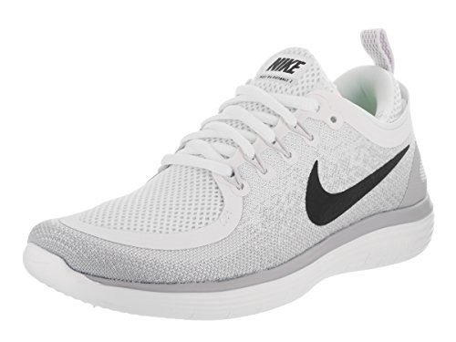 newest a28ac 26ff1 Galleon - Nike Women s Free Rn Distance 2 White Black Pure Platinum Running  Shoe 9.5 Women US