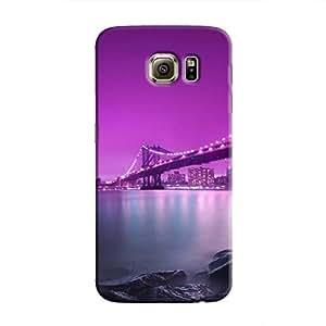 Cover It Up - Bridge-Purple Galaxy S6 Edge Hard Case