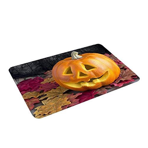 FEDULK Home Decoration Festival Halloween Pumpkin Bathroom Kitchen Anti-Slip Floor Mat Doormat Foot Pad(E)