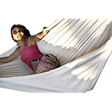 Hammock Sky Brazilian Double Hammock - Two Person Bed for Backyard, Porch, Outdoor and Indoor Use - Soft Woven Cotton Fabric for Supreme Comfort (Natural)