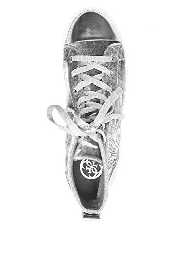Denk Dat Vrouwen G-force Kralen High-top Sneakers Grijs Multi-stof