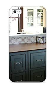 Cute Tpu DebAA Traditional Kitchen With Large Desk Amp Gray Storage Drawers Case Cover For Iphone 5c