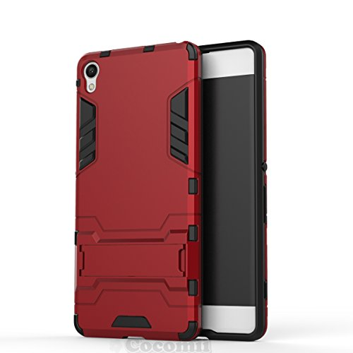 Cocomii Iron Man Armor Sony Xperia XA Case New [Heavy Duty] Premium Tactical Grip Kickstand Shockproof Hard Bumper [Military Defender] Full Body Dual Layer Rugged Cover for Sony Xperia XA (I.Red)