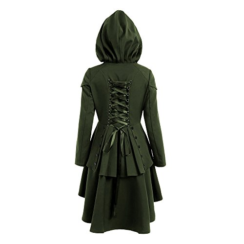 hooded dress coat - 2