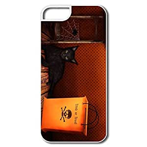 PTCY IPhone 5/5s Customize Funny Halloween Trick Treat Cat