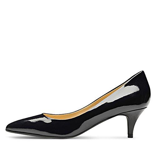 Shoes de Evita Zapatos Piel vestir mujer para Azul de oscuro azul fafIqd