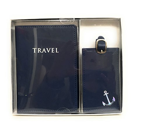 Eccolo Faux Leather Passport Cover and Luggage Tag Set (Travel)