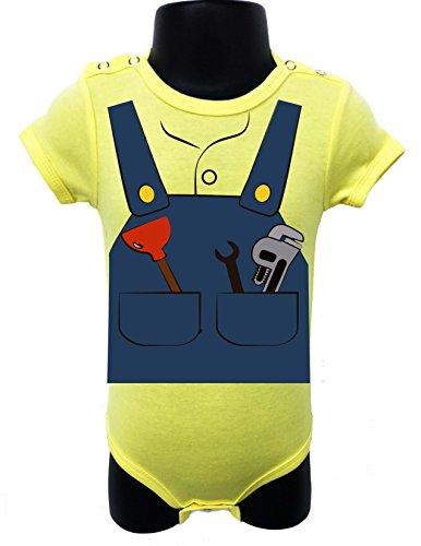 170 PROFESSIONS BABY ROMPER BODYSUIT ONESIE UNISEX HALLOWEEN GIFT POLY BAGGED (6-12 Months, Yellow) (Juegos De Decorar De Halloween)