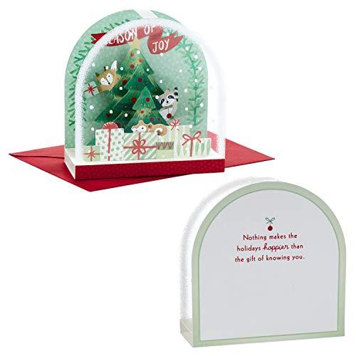 Hallmark Paper Wonder Pop Up Christmas Card Snow Globe (Woodland Creatures) Photo #2