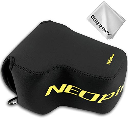 First2savvv Neoprene Camera Case Bag for Nikon COOLPIX P1000 QSL-P1000-01