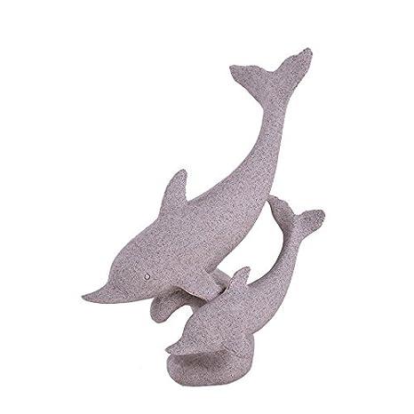 OMEM Decoración para pecera, diseño de delfín blanco para acuario, decoración para el hogar regalo: Amazon.es: Productos para mascotas