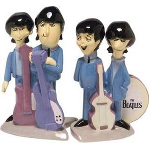 The Beatles Animated Salt and Pepper Shaker Set by Vandor