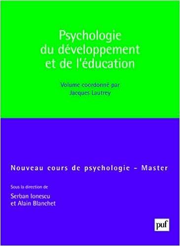 Livre gratuits Psychologie du développement et de l'éducation pdf ebook