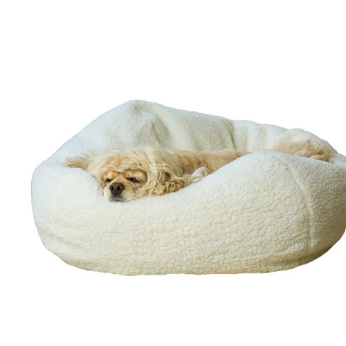 Boomer andamp; George Sherpa Puff Ball Pet Bed Color – Medium, My Pet Supplies