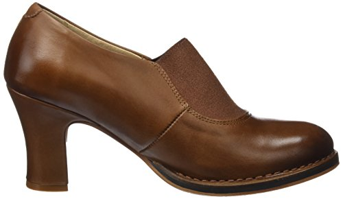 para Baladi Mujer Punta de S297 Skin con Marrón Restored Zapatos Cuero Tacón Cerrada Cuero Neosens qx1PRTww