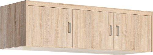 CS Schmalmöbel 51/147 Aufsatz-Schrank, Holz, eiche, 157 x 54 x 43 cm