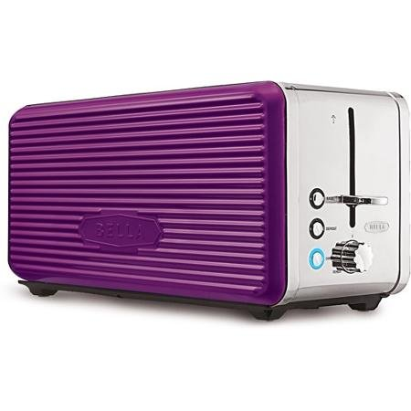 PURPLE Bella Linea Collection 4-Slice Toaster Made of Durabl
