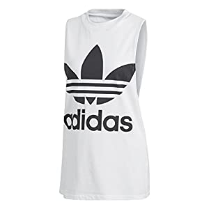 adidas Originals Women's Trefoil Tank Top, White/Black, M