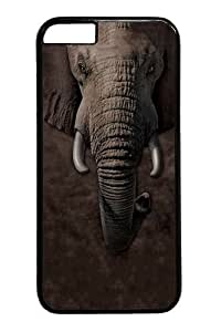 Children's Elephant Face PC Case Cover for iphone 6 4.7 inch Black