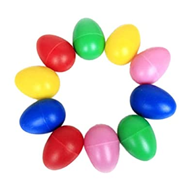 Buytra 10 Pack Plastic Percussion Musical Toys Egg Maracas Shakers with Assorted Colors for Kids Party Favors by Buytra