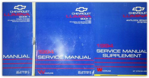 1994 Chevrolet Lumina Service Manual (3 Volume Set) Including: Drivability, Emissions, Electrical Diagnosis and Anti Lock Braking System