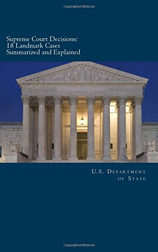 Supreme Court Decisions: 18 Landmark Cases Summarized and Explained U.S. Department of State