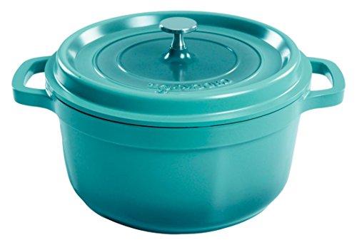 Crock Pot 79565.02 Edmound 5 Quart Cast Aluminum Dutch Oven with Lid, Gradient ()