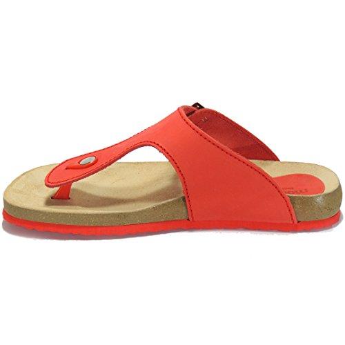 MORXIVA - Sandalia esclava de piel - Modelo 8014 Rojo