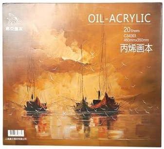 プロの油絵ペーパーブック20枚アクリル油絵の具クリエイティブ絵画キャンバス