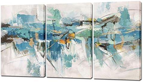 Yihui Arts 3 Piece Abstract Canvas Wall Art