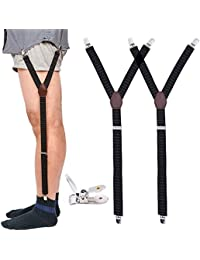Apparel Accessories Supply 1 Pair Elastic Solid Nisex Shirt Fixed Braces Band Suspenders Adjustable Garter Socks Non-slip Garter Clip Leg Ring Clip Belt
