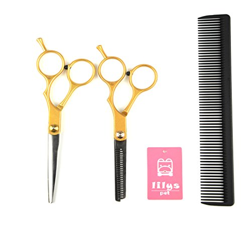 "LILYS PET 5.5""Stitching Color Professional Barber Razor E..."
