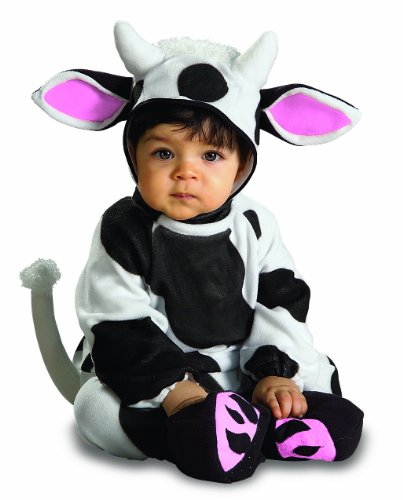 [Rubie's Costume Cozy Cow, Black/White, 0-6 Months] (Baby Cow Halloween Costumes)