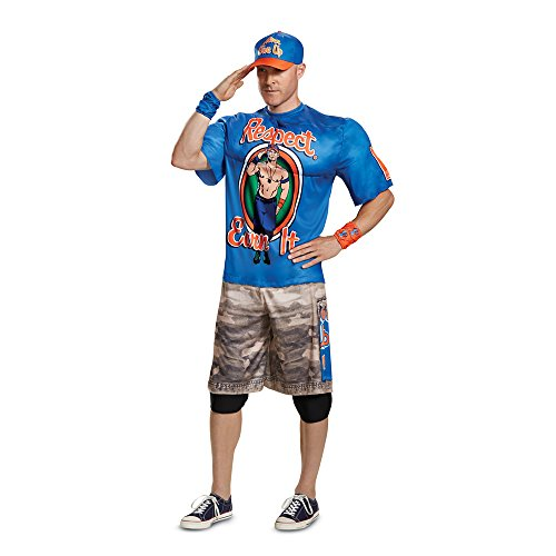 Best Movie Related Halloween Costumes (Disguise Men's John Cena New Muscle Adult Costume, Blue, L/XL)
