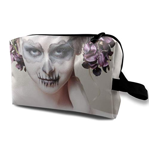 Halloween-Zombie Bride Makeup Girl Multi-function Travel Makeup Toiletry Coin Bag Case -