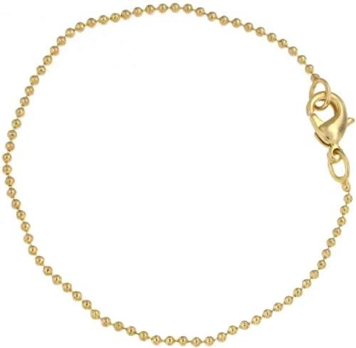 Kugelarmband 18kt Gold Doublé 1,5 mm breit Länge 17 cm