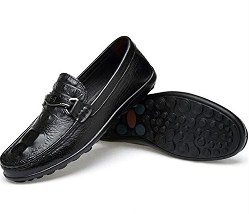Hommes Chaussures En Cuir Casual Mocassin Style Faux Crocodile Mocassins Taille 38To 45