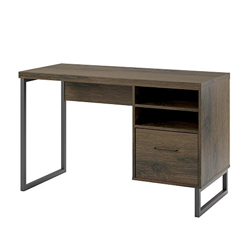 - Ameriwood Home  Candon Desk, Distressed Brown Oak