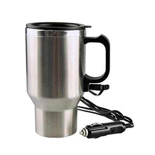 Clkjdz 12V 450ML Stainless Steel Electric Car Cup Thermal Insulation Coffee Tea Travel Mug Warmer with Wire Plug
