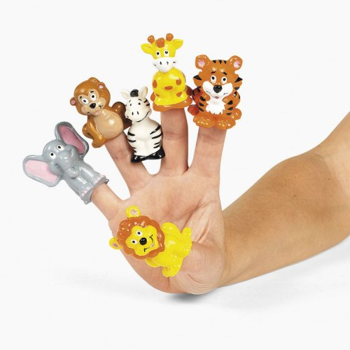 Safari Zoo Theme Finger Puppets
