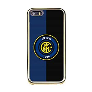 Iphone 5/5s Phone Case Cover,Hot Official Football Club Internazionale Milano Logo Design Hard Plastic Phone Case for Iphone 5/5s