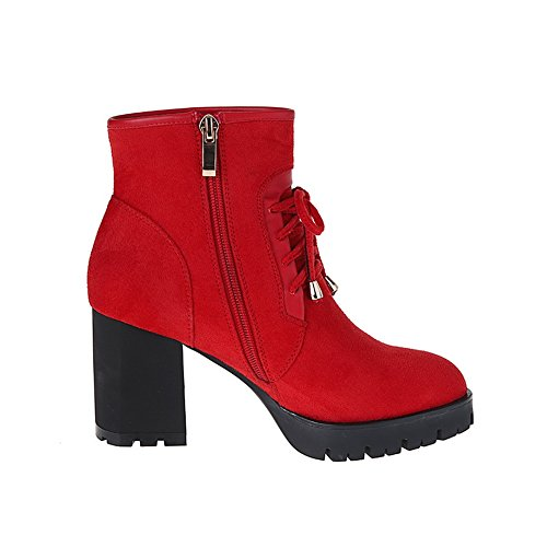 Sneakers 1TO9 Sneakers Fashion Urethane Fashion Womens Fashion Red Closed Toe Bootie Urethane MNS02059 Toe Puncture Closed Road Resistant qEEBwr