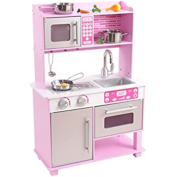 Amazon Com Kidkraft Girl S Pink Toddler Kitchen With